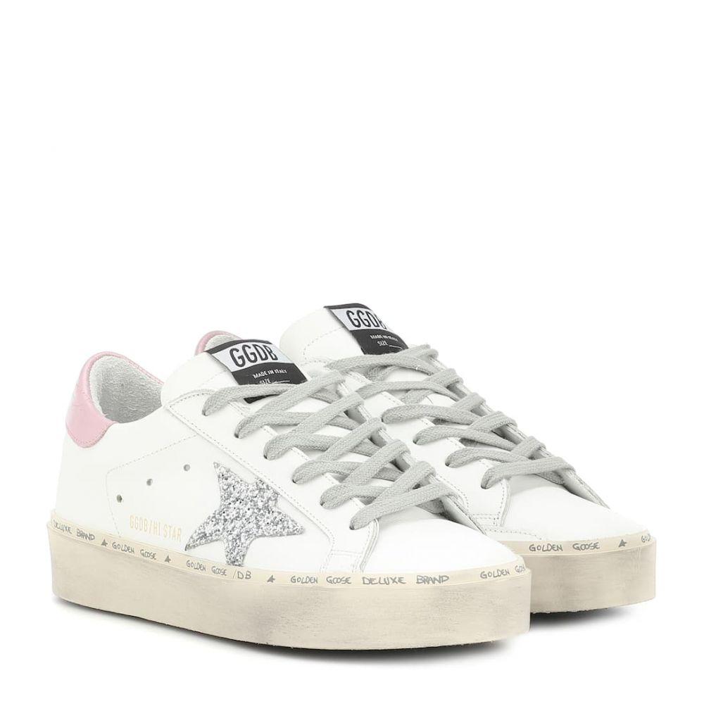 ゴールデン グース Golden Goose レディース シューズ・靴 スニーカー【Hi Star leather sneakers】White-Pink Laminated-Silver Gl