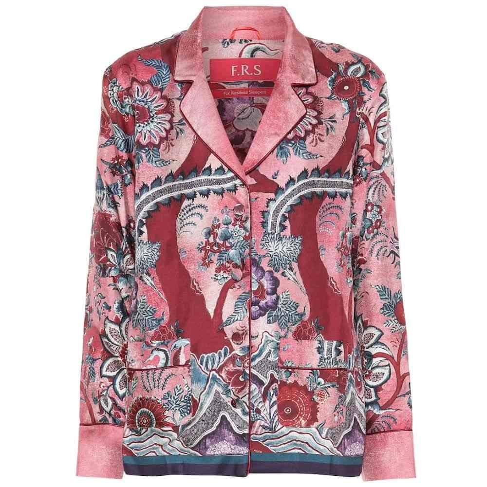 フォーレストレススリーパーズ F.R.S For Restless Sleepers レディース インナー・下着 パジャマ・トップのみ【Ade printed silk pajama top】alvero fdo avorio