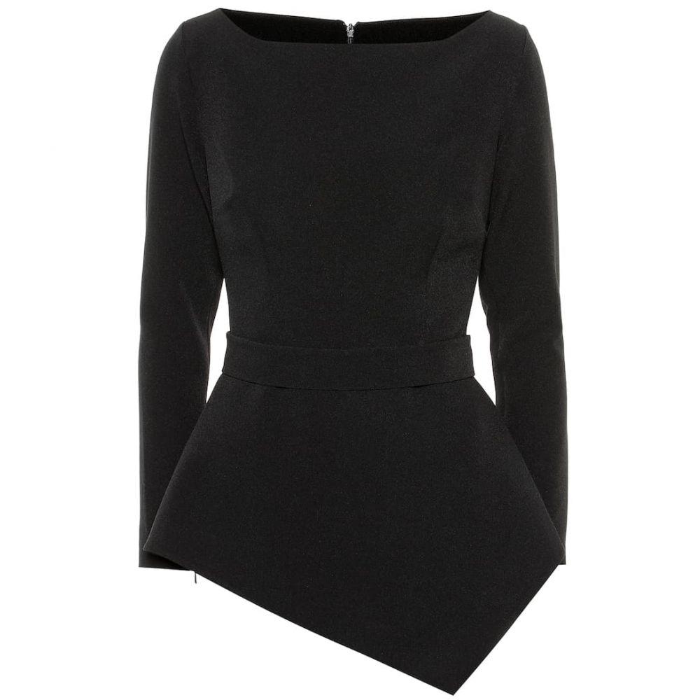 サフィヤ Safiyaa レディース トップス ブラウス・シャツ【Romola asymmetric crepe blouse】Black