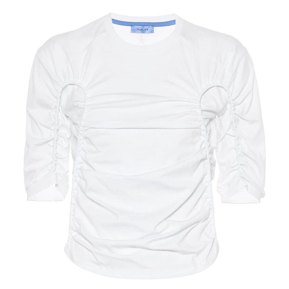 ミュグレー Mugler レディース トップス【Ruched cotton top】White