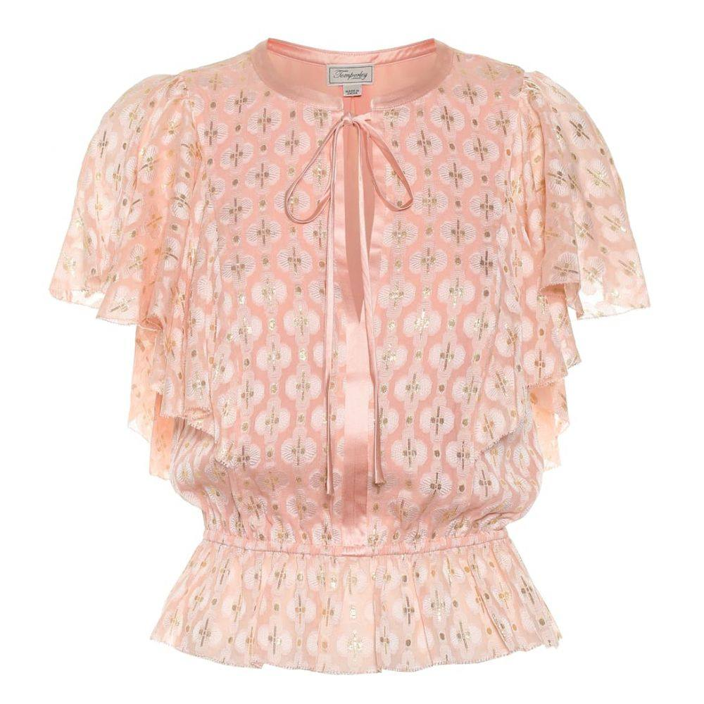テンパリー ロンドン Temperley London レディース トップス ブラウス・シャツ【Suki silk blend blouse】Cameo