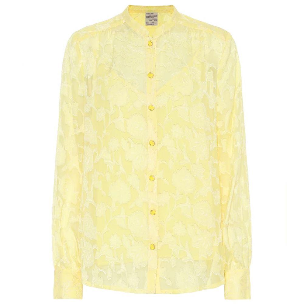 バウム ウンド ヘルガーデン Baum und Pferdgarten レディース トップス ブラウス・シャツ【Mellanie silk-blend blouse】Lime Light