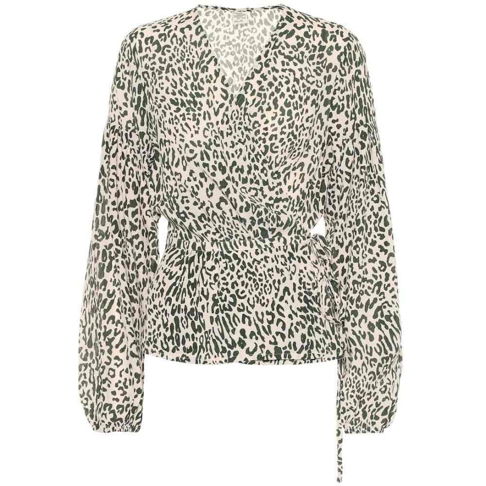 バウム ウンド ヘルガーデン Baum und Pferdgarten レディース トップス ブラウス・シャツ【Monia printed silk-blend blouse】Eden Green Leo