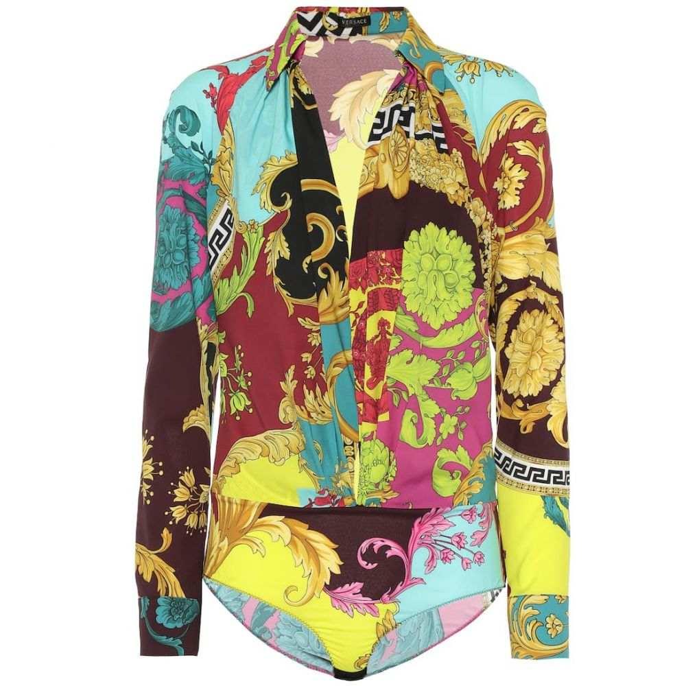 ヴェルサーチ Versace レディース インナー・下着 ボディースーツ【Montage-print bodysuit】Multicolor