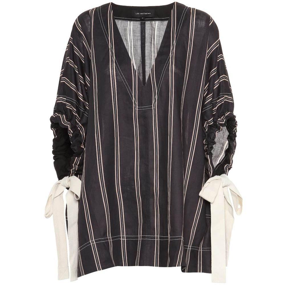 リーマシューズ Lee Mathews レディース トップス ブラウス・シャツ【Granada striped ramie blouse】Black