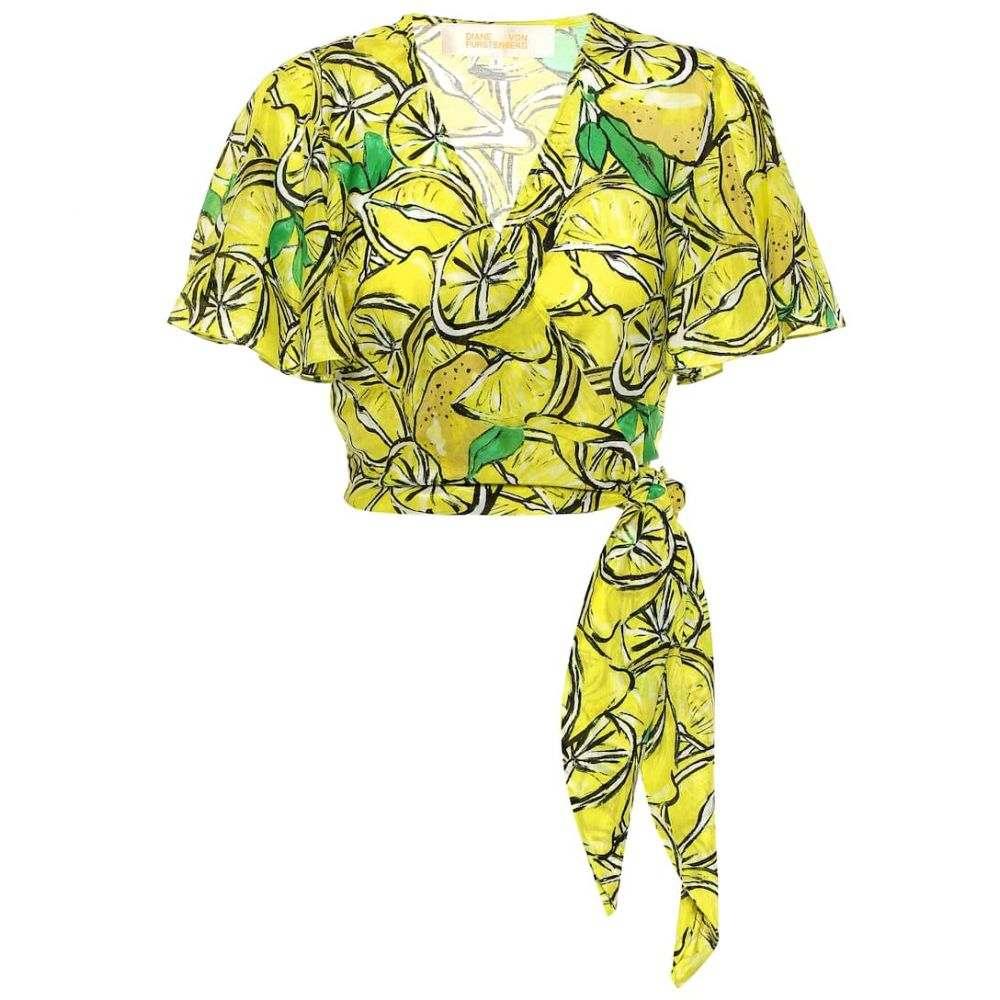 ダイアン フォン ファステンバーグ Diane von Furstenberg レディース トップス【Hailey printed cotton and silk top】Lemons Sulfur
