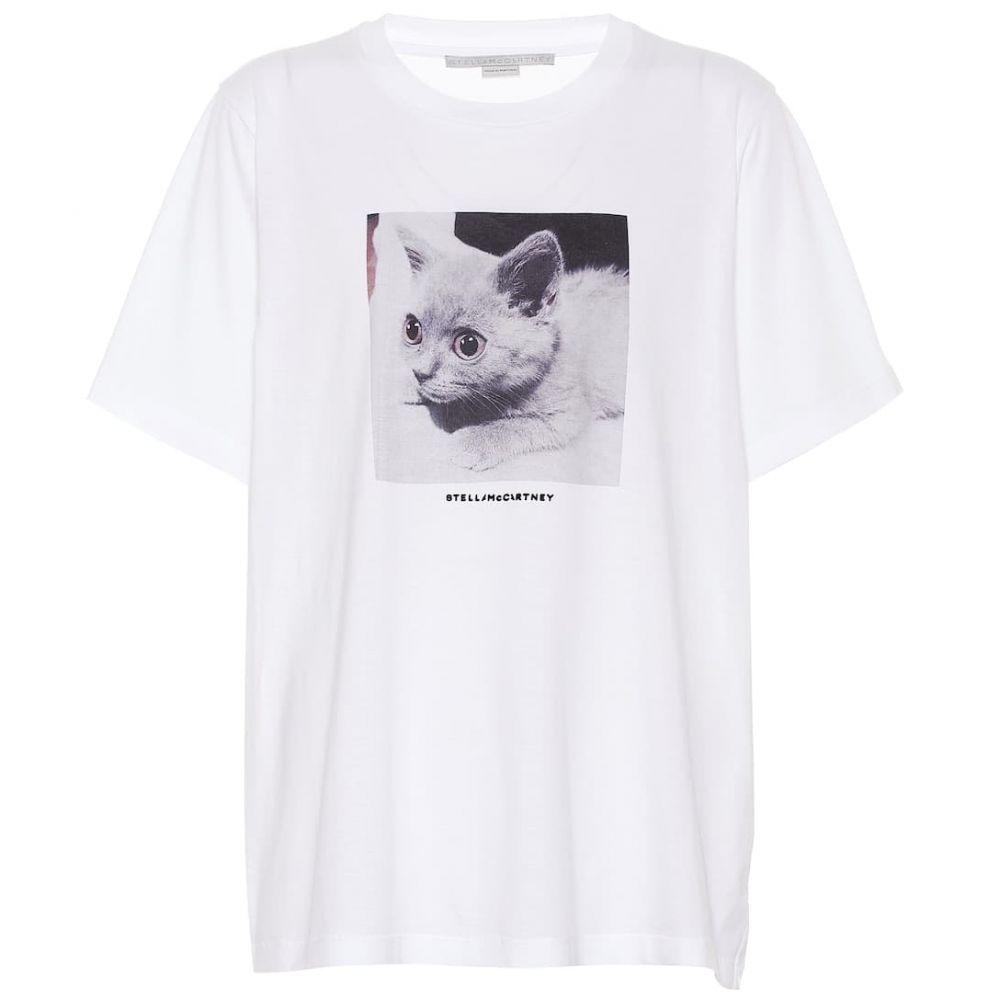 ステラ マッカートニー Stella McCartney レディース トップス Tシャツ【Printed cotton T-shirt】Pure White