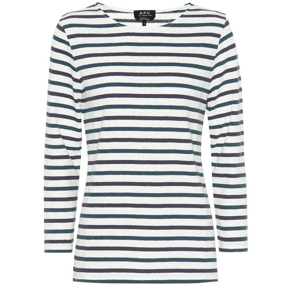 アーペーセー A.P.C. レディース トップス【Catarina striped cotton top】Blanc