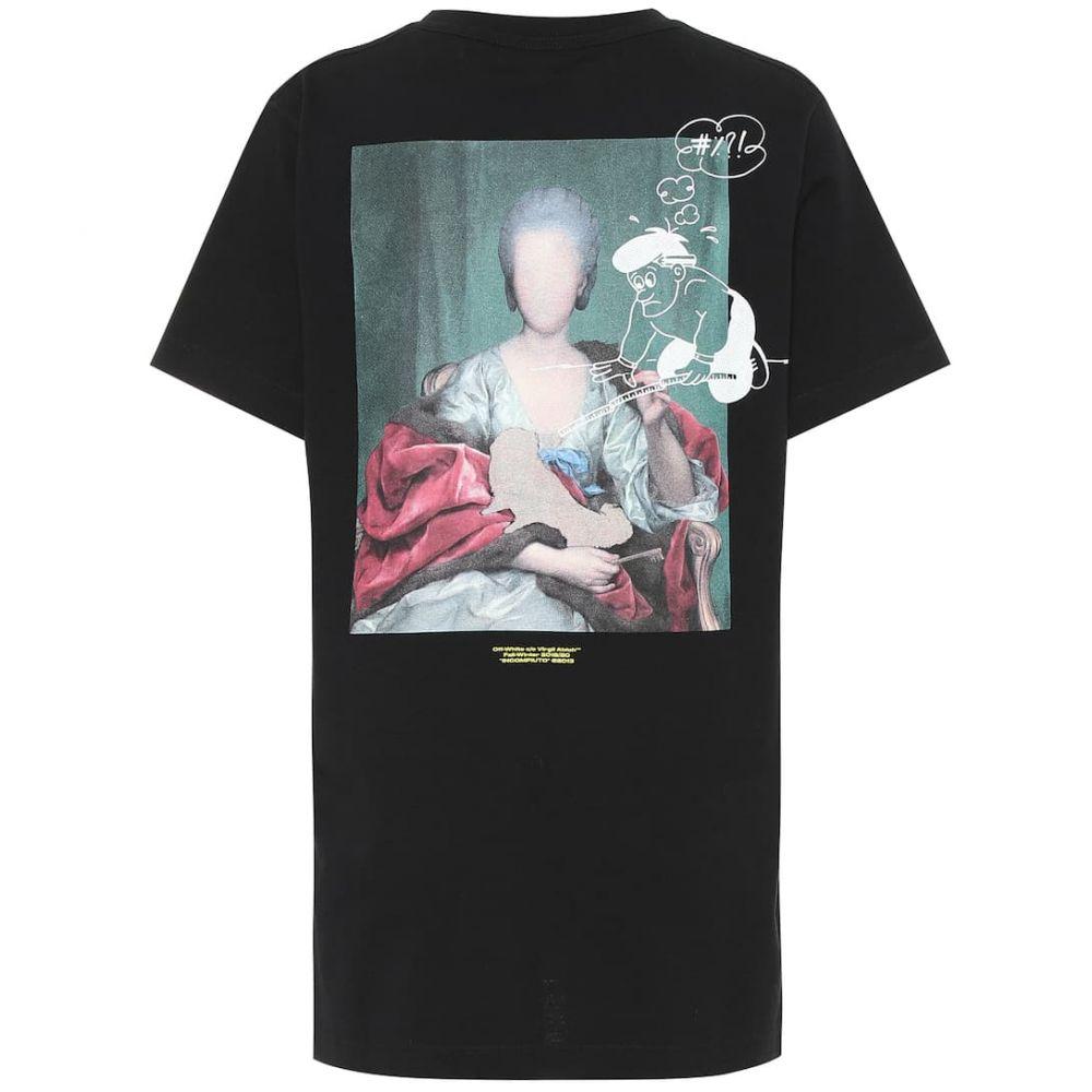 オフ-ホワイト Off-White レディース トップス Tシャツ【Mariana de Silva cotton T-shirt】Black Multicolor