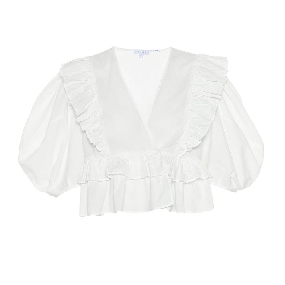 ロードリゾート RHODE レディース トップス【Elodie cotton top】white dazzle