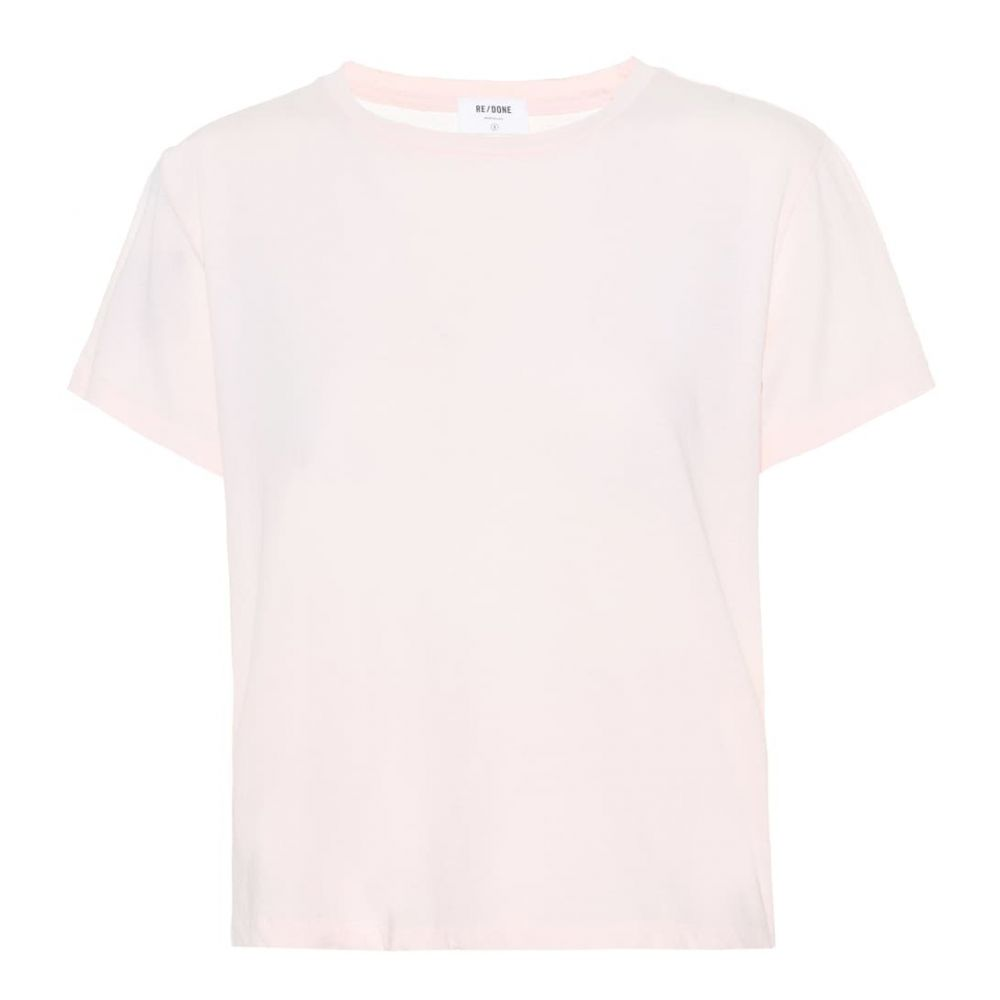 リダン Re/Done レディース トップス Tシャツ【Modern Classic cotton T-shirt】Sunfaded Pink 2