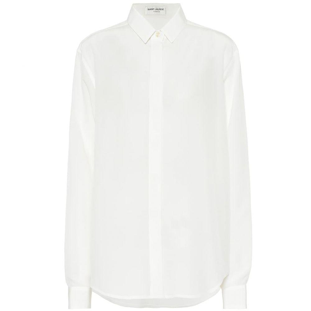 イヴ サンローラン Saint Laurent レディース トップス ブラウス・シャツ【Silk crepe de chine blouse】Shell