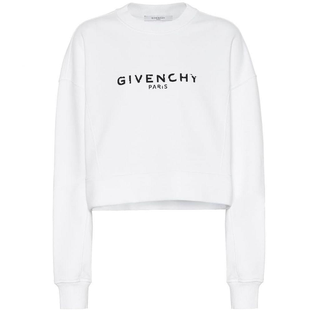ジバンシー Givenchy レディース トップス ニット・セーター【Logo cotton sweater】White