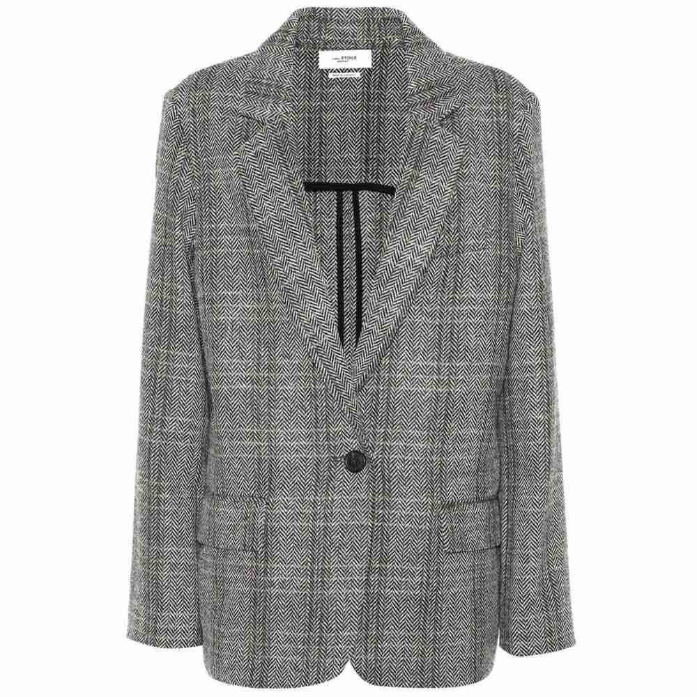 イザベル マラン Isabel Marant, Etoile レディース スーツ・ジャケット アウター【Charly checked wool blazer】Grey