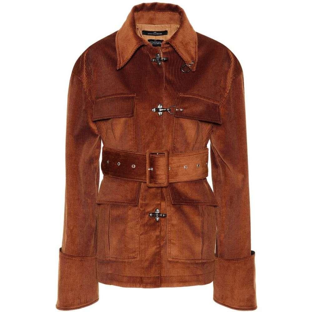 ロック Rokh レディース ジャケット アウター【Belted corduroy jacket】Brown