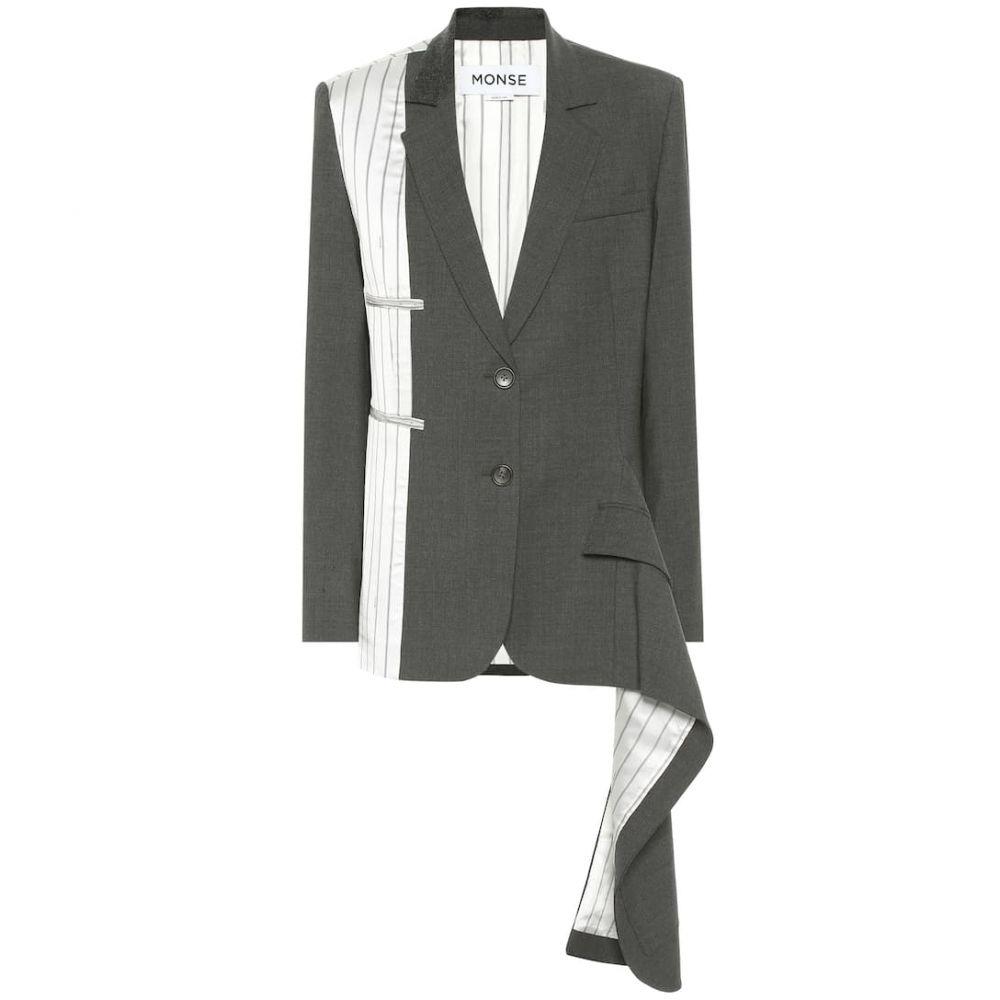 モンス Monse レディース スーツ・ジャケット アウター【Stretch-wool blazer】Charcoal