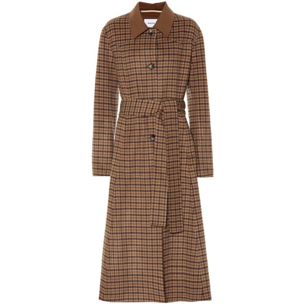 ナヌシュカ Nanushka レディース コート アウター【Sira checked wool and silk coat】Brown Check