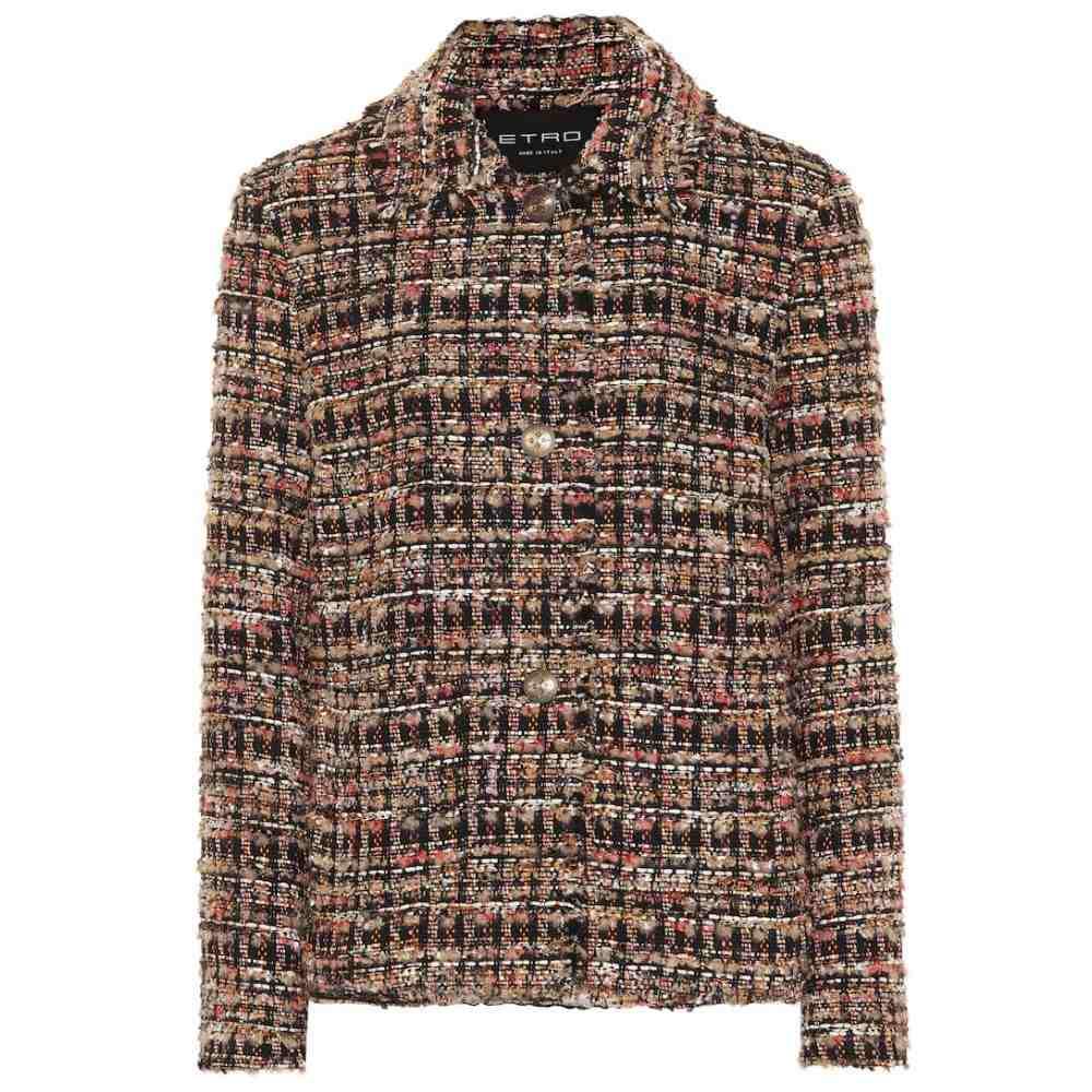 エトロ Etro レディース ジャケット アウター【Cotton-blend tweed jacket】