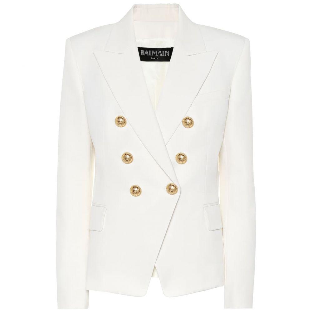 バルマン Balmain レディース スーツ・ジャケット アウター【Wool blazer】White