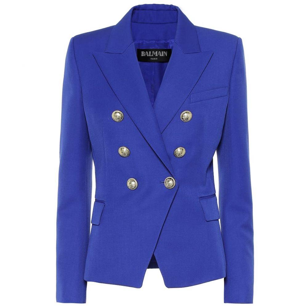 バルマン Balmain レディース スーツ・ジャケット アウター【Wool blazer】Bleu Gitane