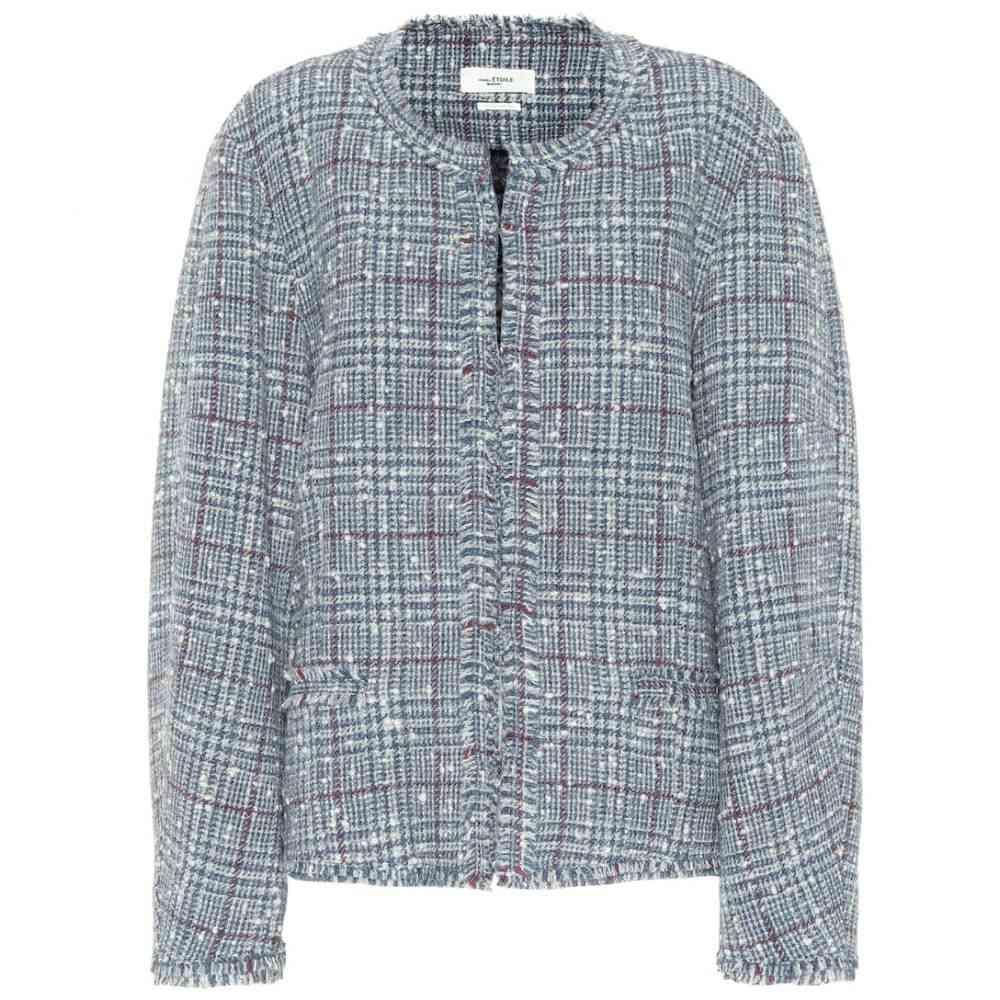 イザベル マラン Isabel Marant, Etoile レディース スーツ・ジャケット アウター【Ovia checked wool-blend jacket】Grey/Blue