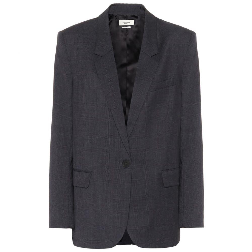 イザベル マラン Isabel Marant, Etoile レディース スーツ・ジャケット アウター【Verix checked wool blazer】Midnight
