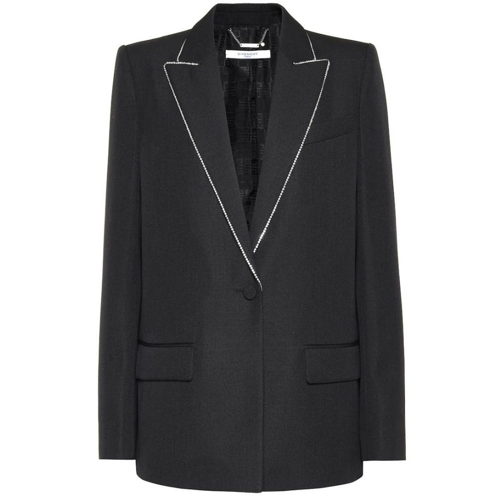 ジバンシー Givenchy レディース スーツ・ジャケット アウター【Embellished wool blazer】Black