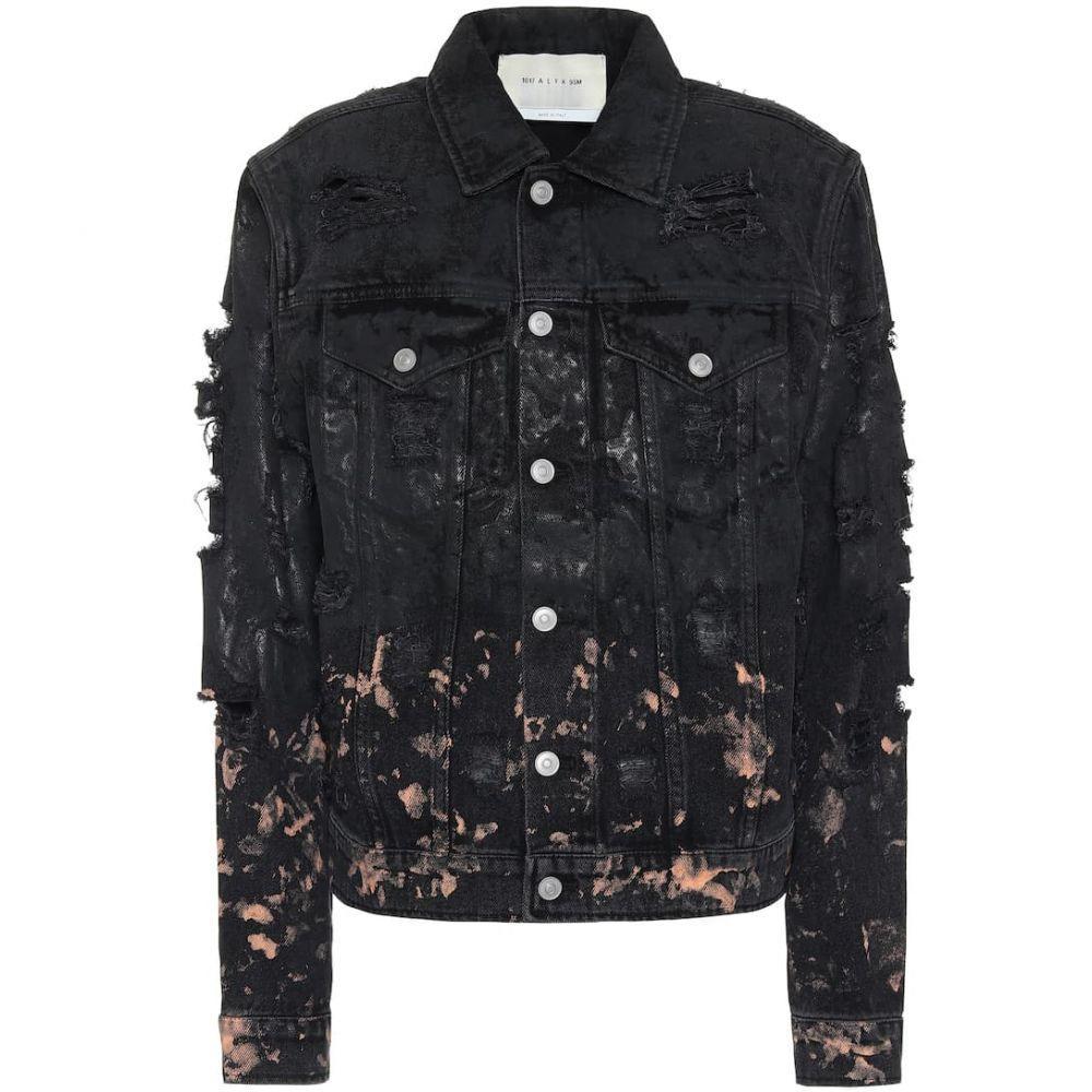 アリクス 1017 ALYX 9SM レディース ジャケット Gジャン アウター【Distressed denim jacket】Black