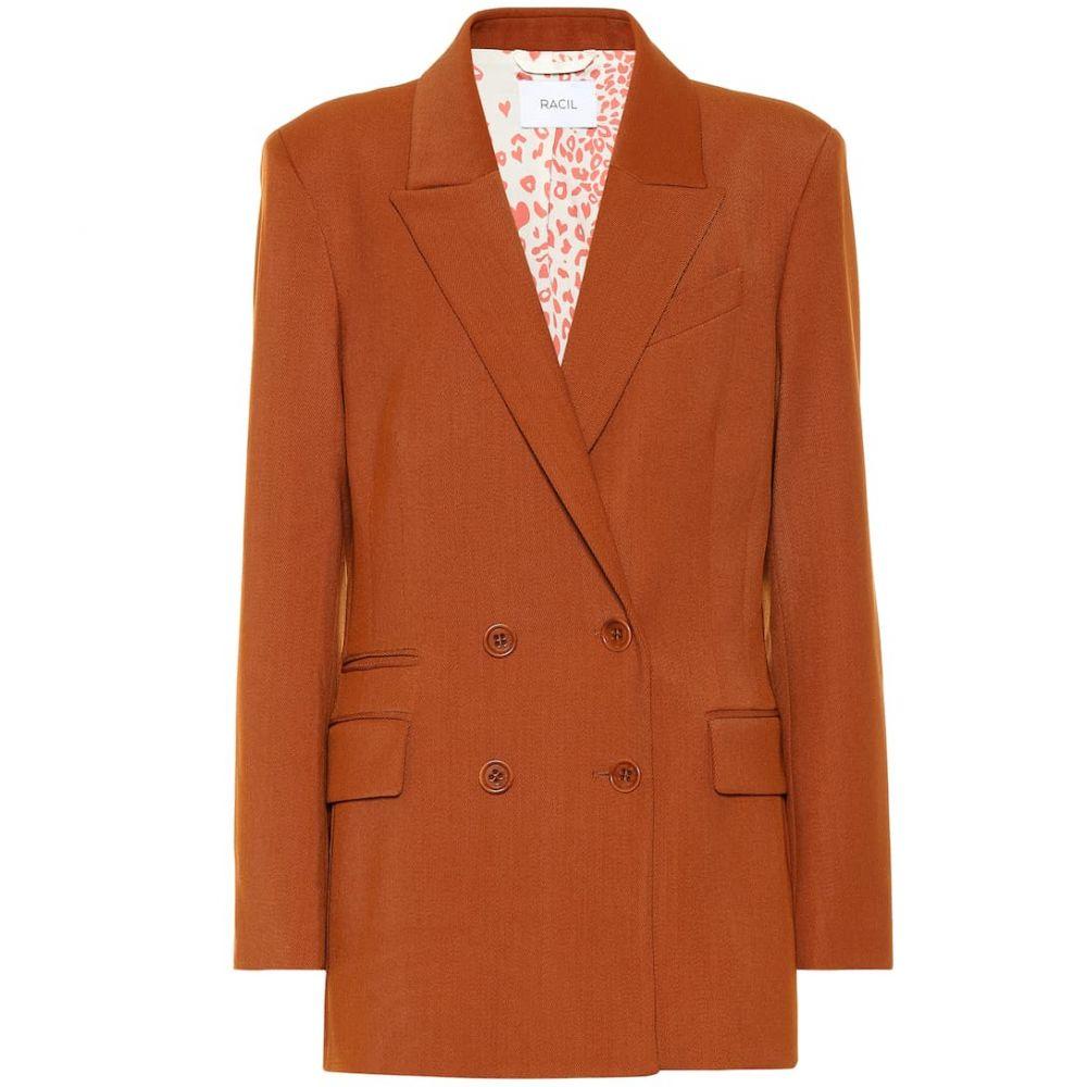 ラシル Racil レディース スーツ・ジャケット アウター【Archie wool-blend blazer】Caramel