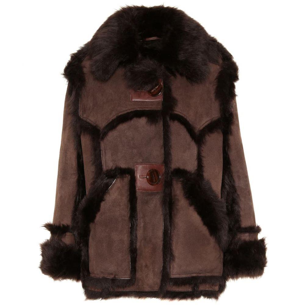 アクネ ストゥディオズ Acne Studios レディース ジャケット シアリング アウター【Shearling jacket】Brown/Dark Brown