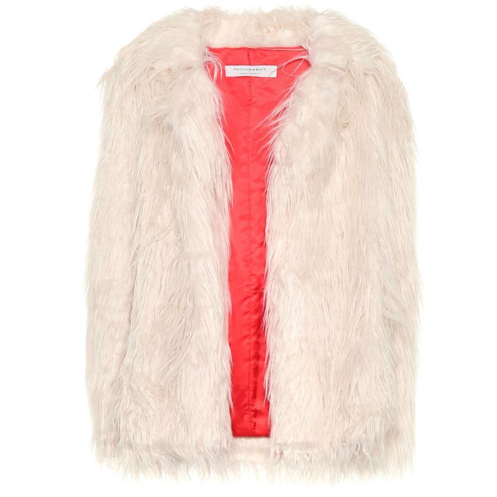 フィロソフィ ディ ロレンツォ セラフィニ Philosophy Di Lorenzo Serafini レディース ジャケット アウター【Faux fur jacket】Pink