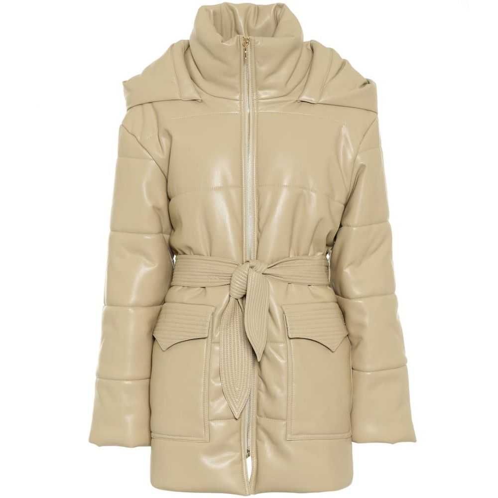 ナヌシュカ Nanushka レディース コート アウター【Lenox faux leather coat】Wax Yellow