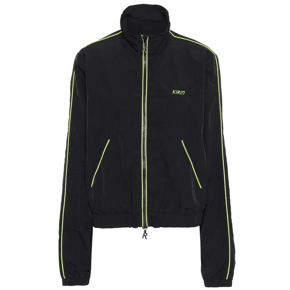 キリン Kirin レディース ジャージ アウター【Nylon track jacket】Black