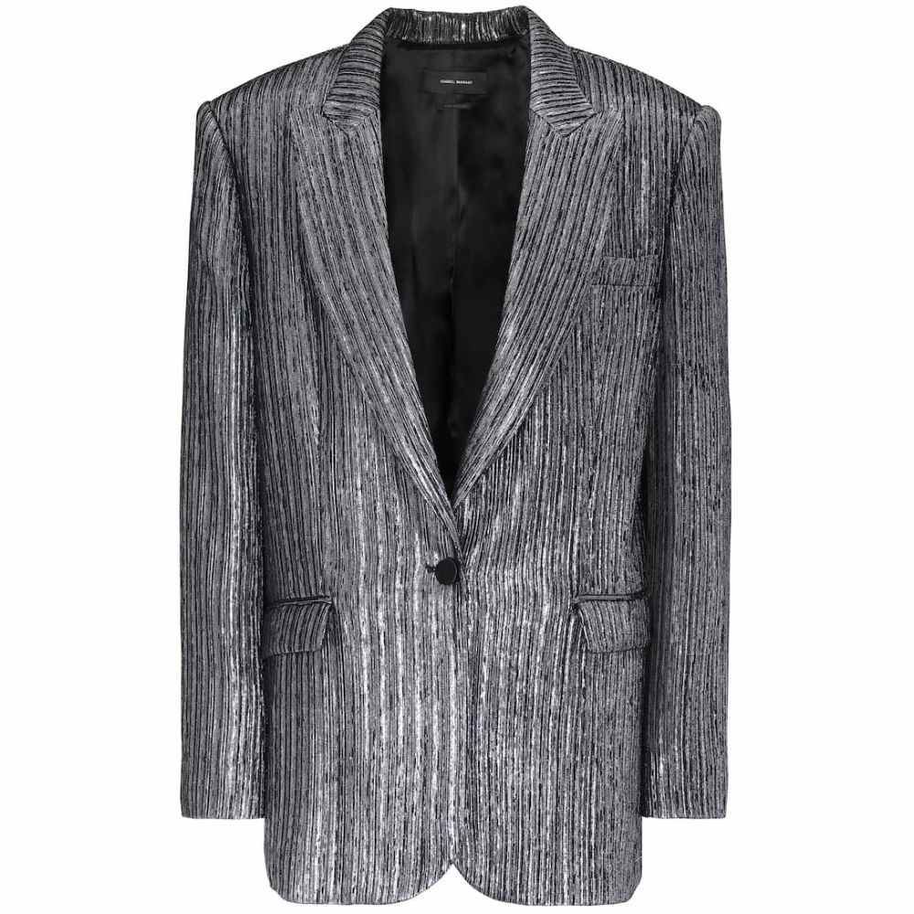 イザベル マラン Isabel Marant レディース スーツ・ジャケット アウター【Datja metallic silk-blend blazer】Silver