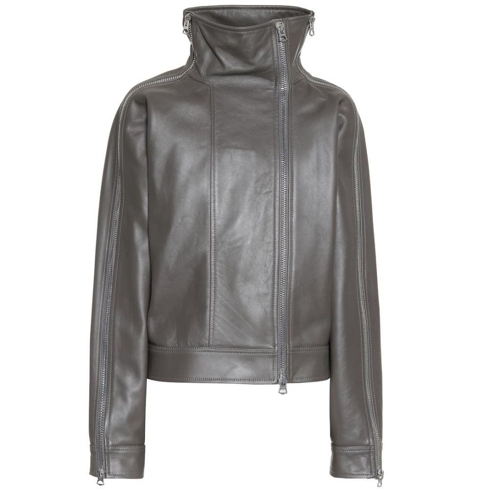 アクネ ストゥディオズ Acne Studios レディース レザージャケット アウター【Leather jacket】Grey