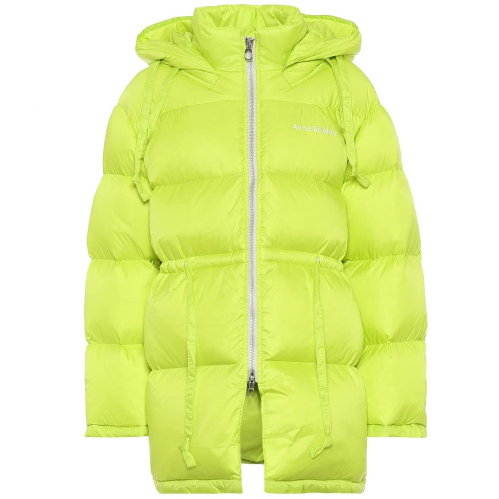 アクネ ストゥディオズ Acne Studios レディース ダウン・中綿ジャケット アウター【Hooded nylon down jacket】Neon Yellow