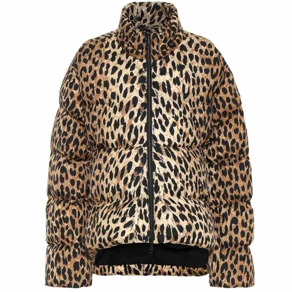 バレンシアガ Balenciaga レディース ダウン・中綿ジャケット アウター【Leopard-print puffer jacket】Beige