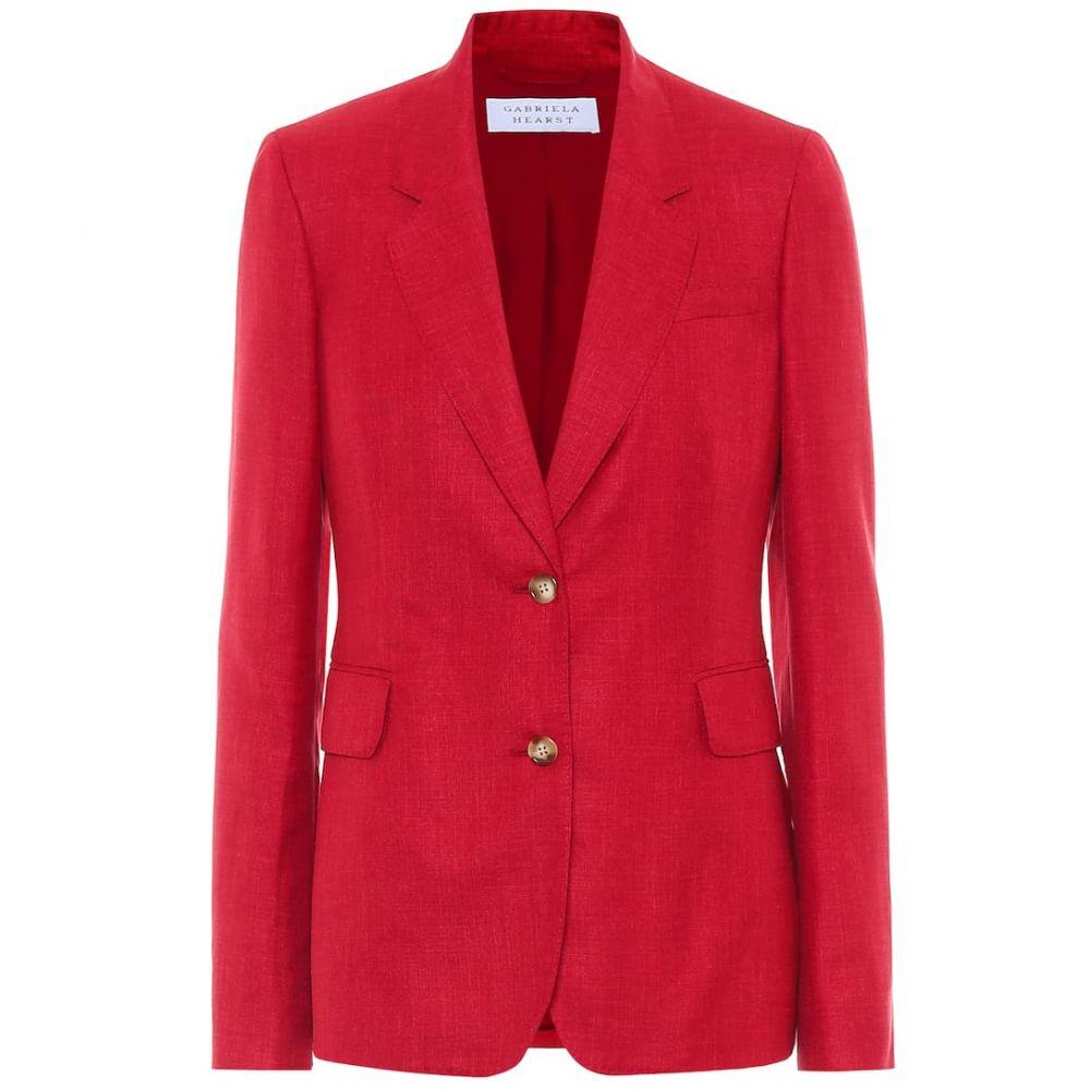 ガブリエラ ハースト Gabriela Hearst レディース スーツ・ジャケット アウター【Sophie wool, silk and linen blazer】Red