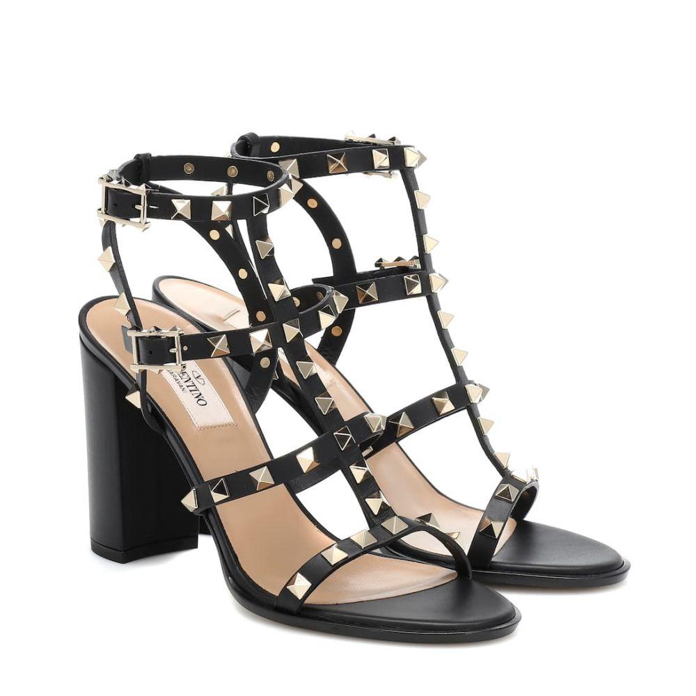 ヴァレンティノ Valentino レディース サンダル・ミュール シューズ・靴【Garavani Rockstud leather sandals】Nero