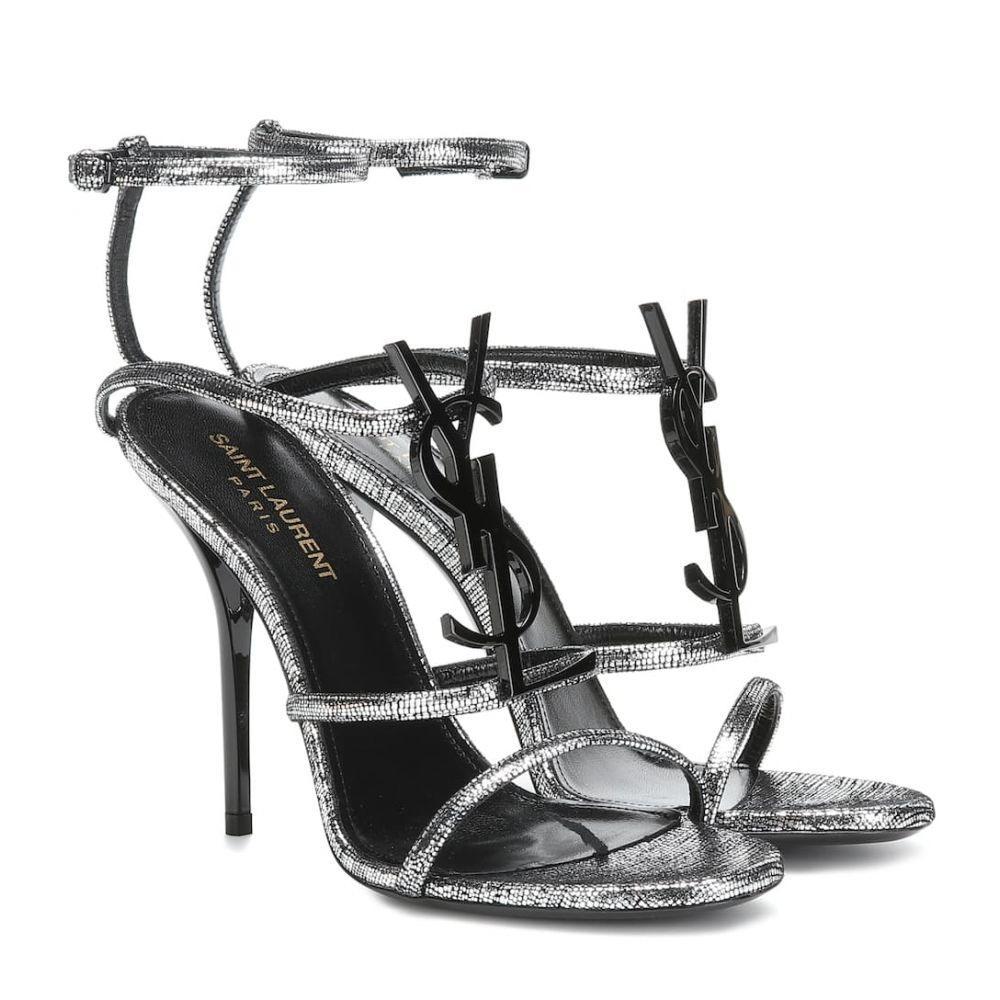 イヴ サンローラン Saint Laurent レディース サンダル・ミュール シューズ・靴【Cassandra 110 leather sandals】Argent