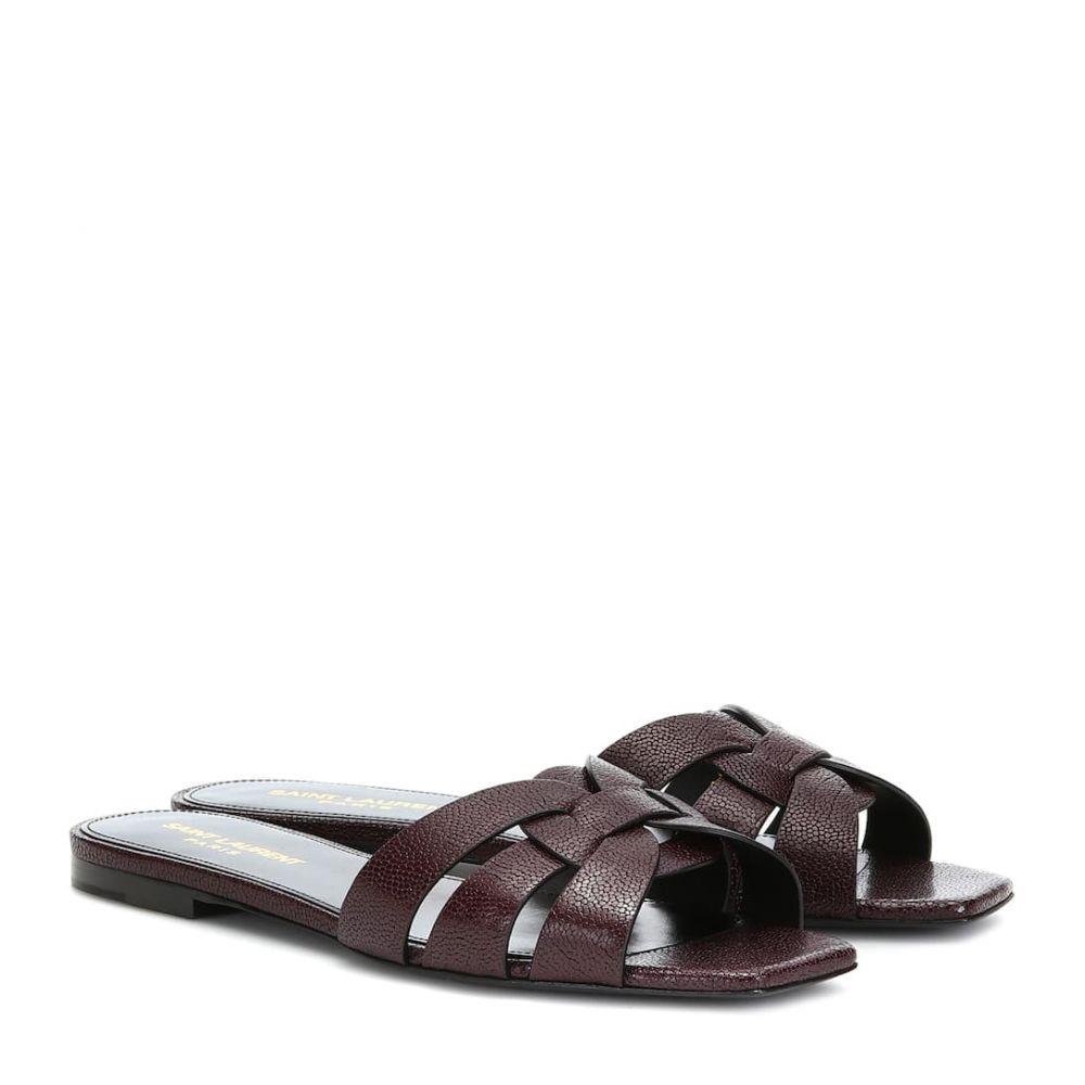 イヴ サンローラン Saint Laurent レディース サンダル・ミュール シューズ・靴【Tribute Nu Pieds leather sandals】Dark Burgundy