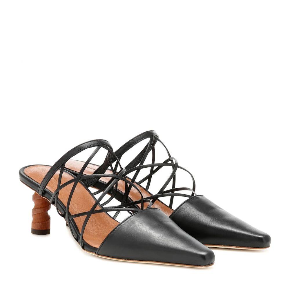 レジーナ ピヨ Rejina Pyo レディース サンダル・ミュール シューズ・靴【Lisa leather mules】Leather Black Upper/Honey