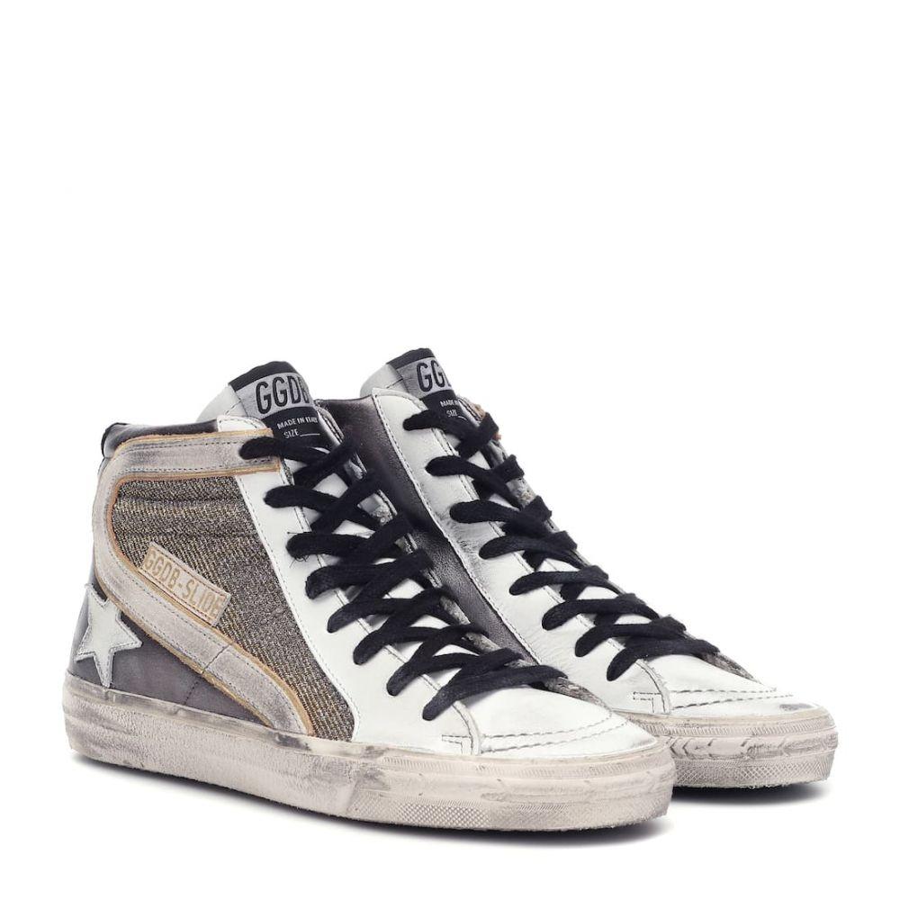 ゴールデン グース Golden Goose レディース スニーカー シューズ・靴【Slide leather sneakers】Gun Metal-Shimmer-White Star