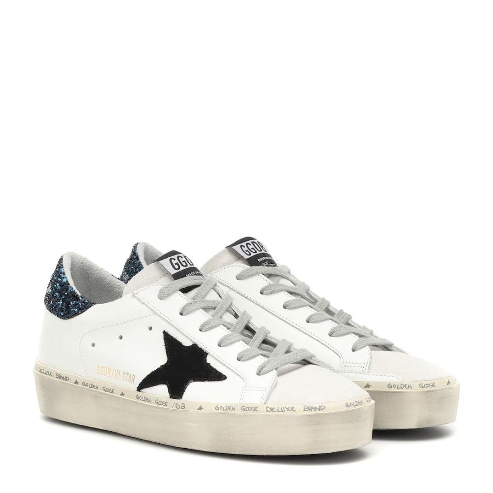 ゴールデン グース Golden Goose レディース スニーカー シューズ・靴【Superstar leather sneakers】White-Blue Glitter-Black Star