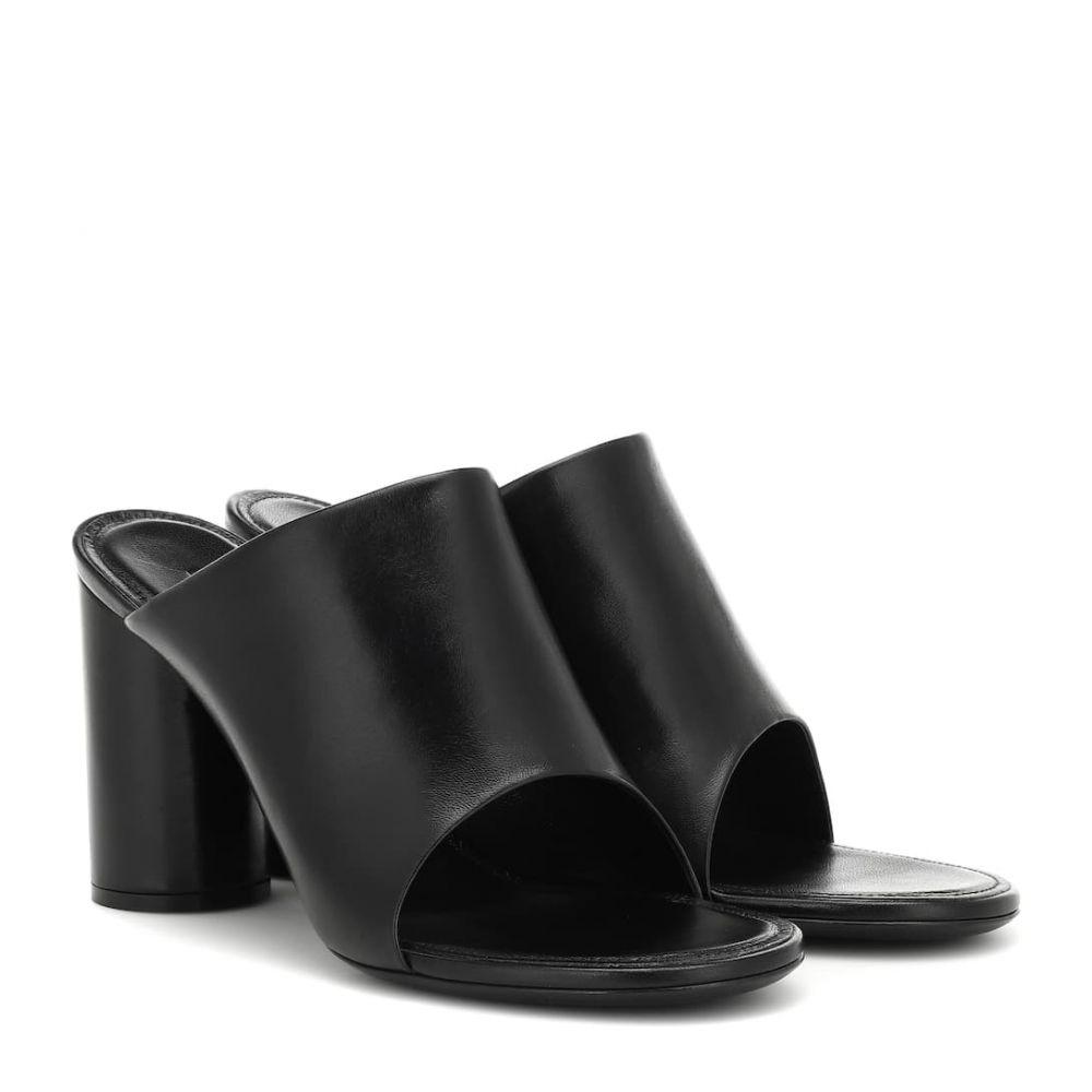 バレンシアガ Balenciaga レディース サンダル・ミュール シューズ・靴【Leather sandals】Black/White