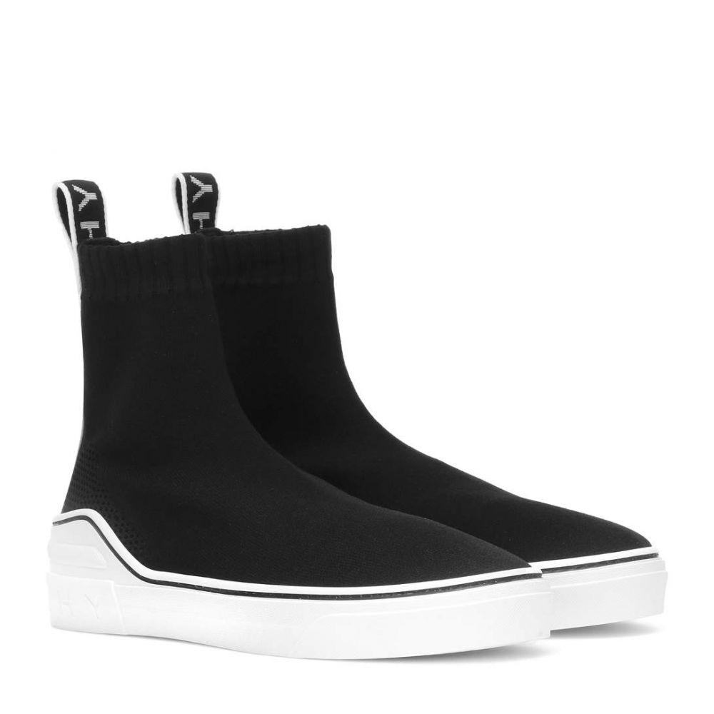 ジバンシー Givenchy レディース スリッポン・フラット シューズ・靴【George V stretch knit sneakers】Black