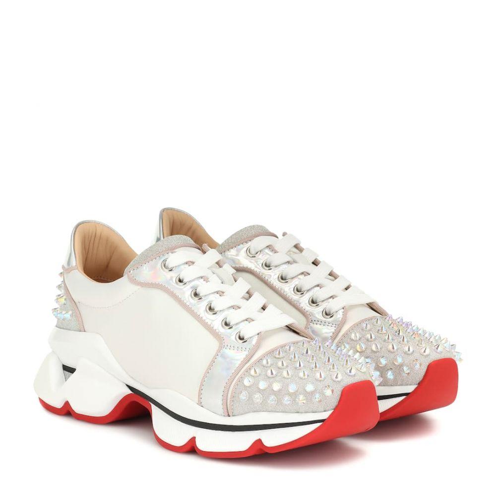 クリスチャン ルブタン Christian Louboutin レディース スニーカー シューズ・靴【Orlato studded leather sneakers】Version Ab