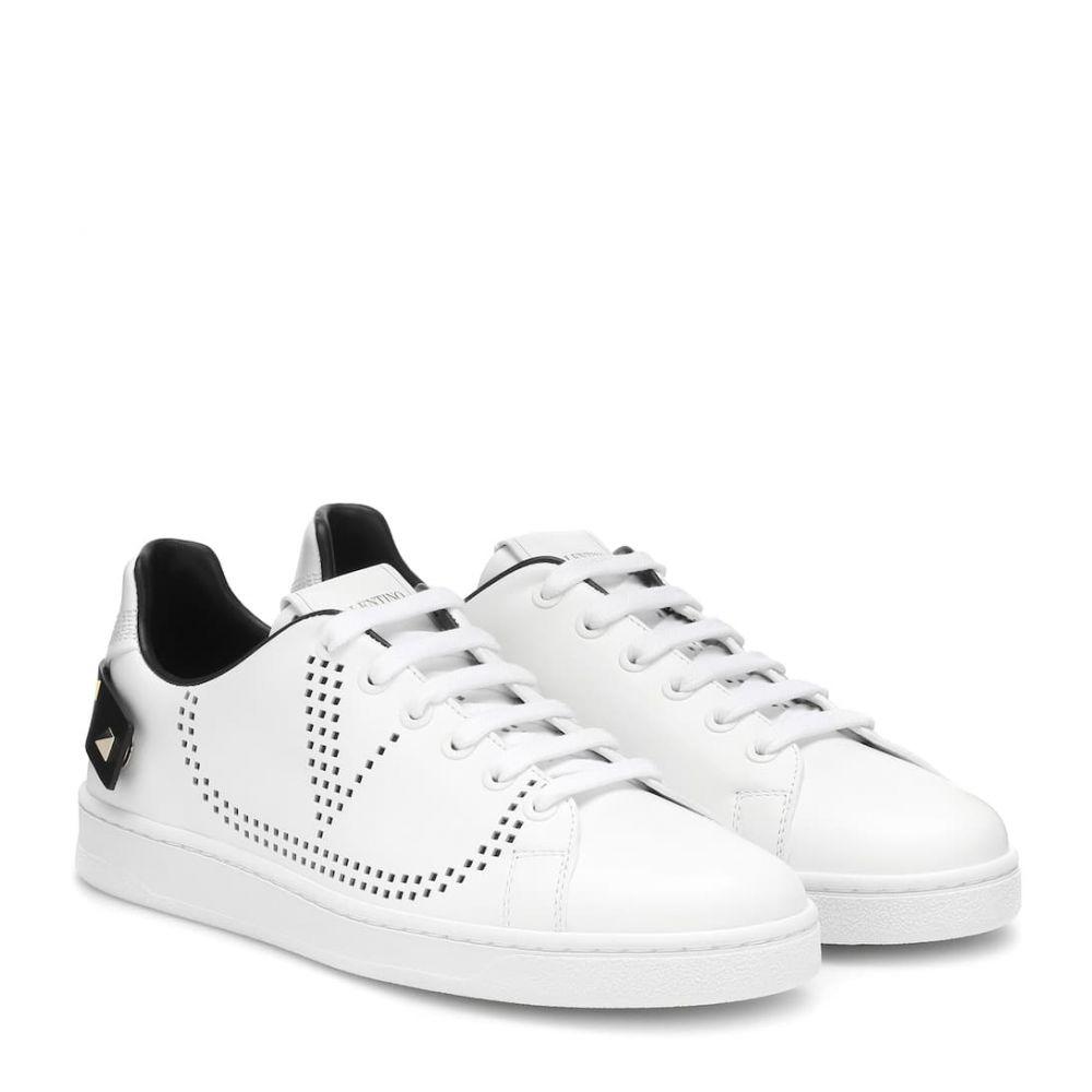 ヴァレンティノ Valentino レディース スニーカー シューズ・靴【Garavani BACKNET leather sneakers】bianco/nero