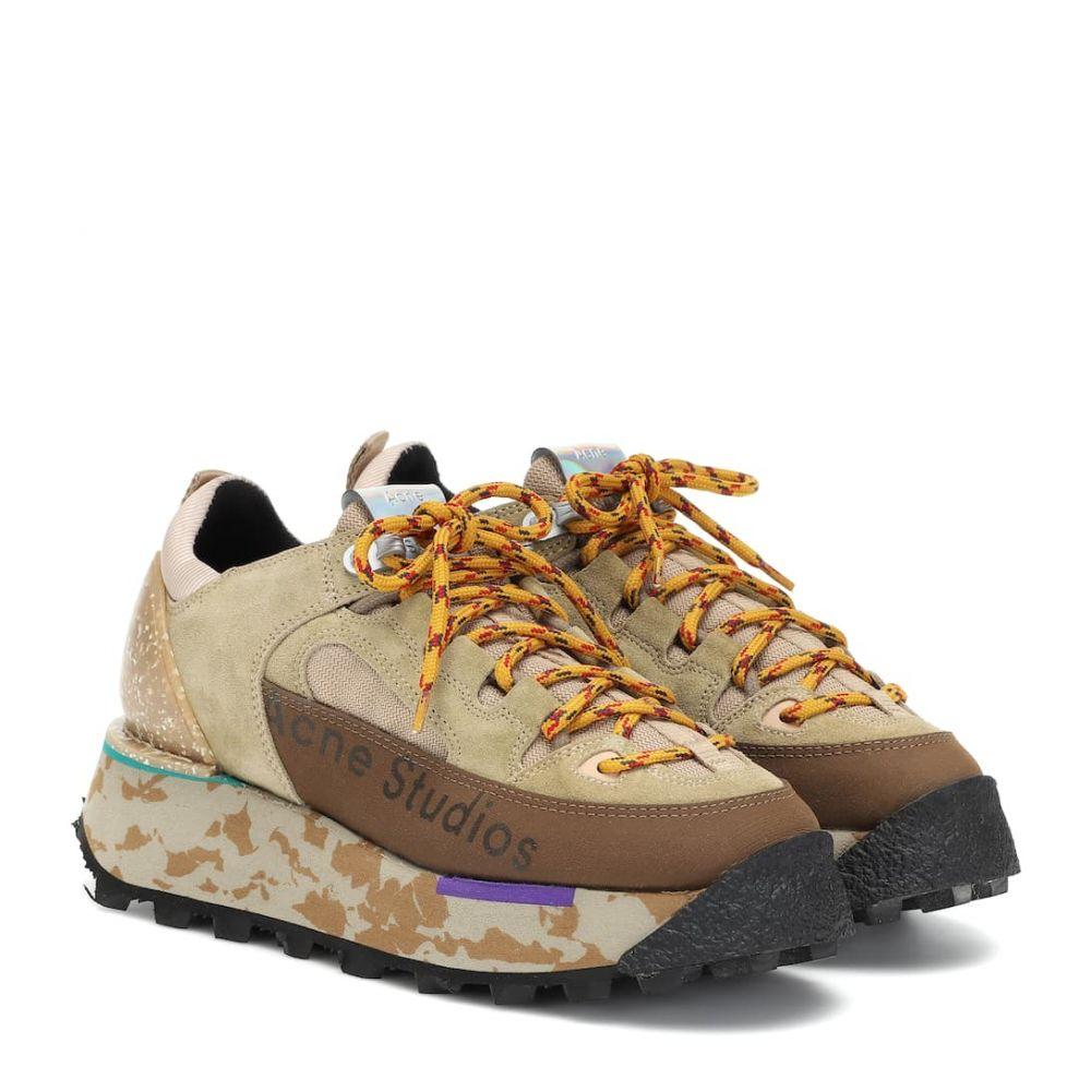 アクネ ストゥディオズ Acne Studios レディース スニーカー シューズ・靴【Suede platform sneakers】Multi Beige
