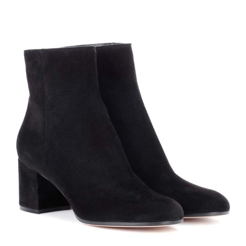 ジャンヴィト ロッシ Gianvito Rossi レディース ブーツ ショートブーツ シューズ・靴【Margaux suede ankle boots】Black